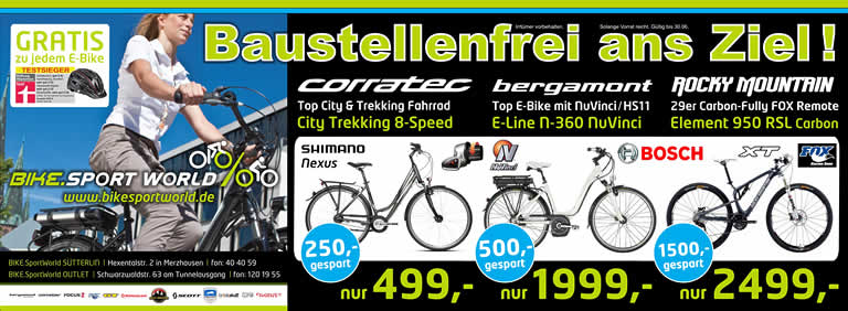 Baustellenfrei ans Ziel - Corratec City Trekking 8-Speed 499 ? - Bergamont E-line 360 NuVinci 1999 ? - Rocky Mountain Element 950 RSL 2499 ?
