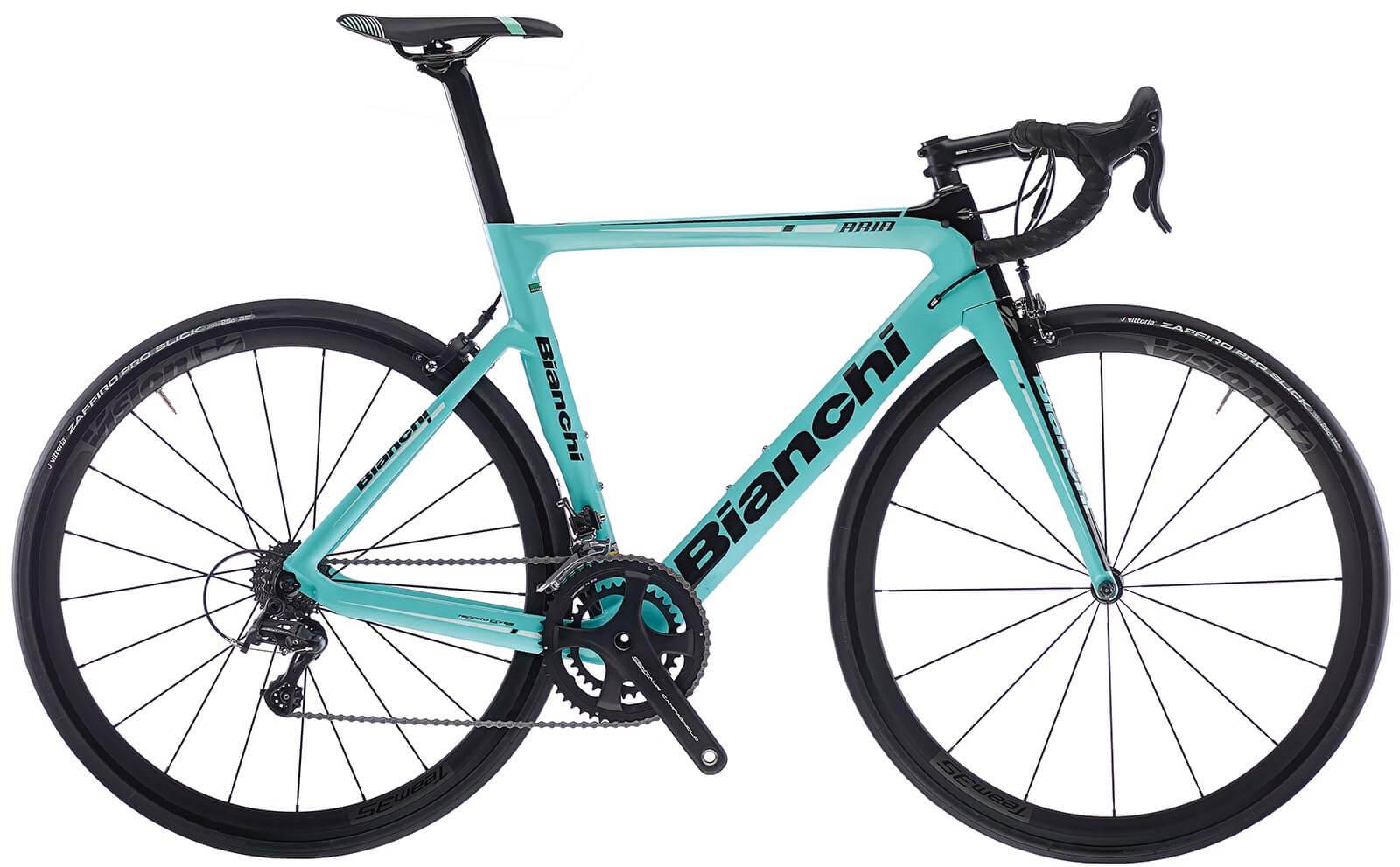 Bianchi Aria mit Campa Potenza und leichten Hochprofil Laufräder