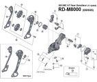 Shimano Deore XT RDM8000 Schaltwerk Ersatzteil
