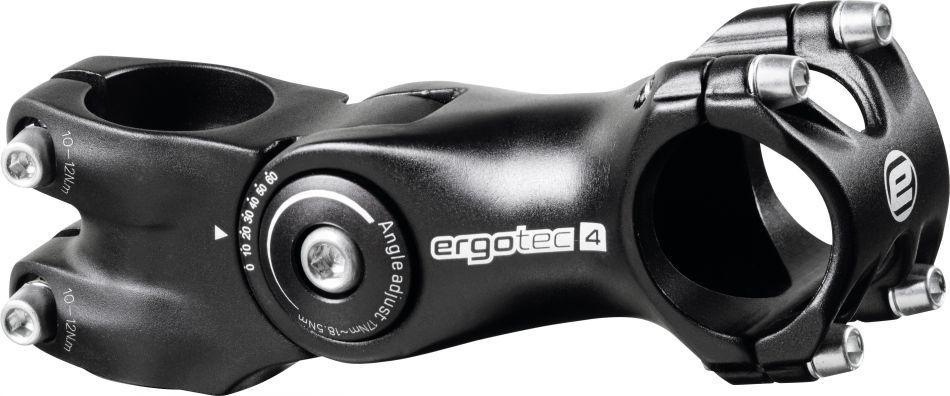 Ergotec Vorbau Octopus 2 Ahead 105mm 31,8mm verstellbar - schwarz