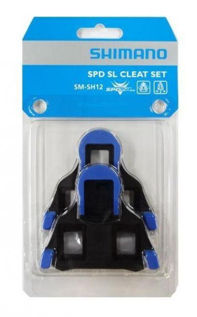 Shimano Schuhplatten SPD SL SM-SH12 blau